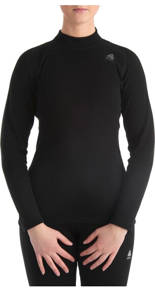 Aclima W's Warmwool Shirt Crew Neck Jet Black